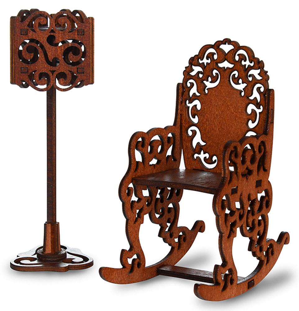 ЯиГрушка Мебель для кукол Кресло и торшер недорого