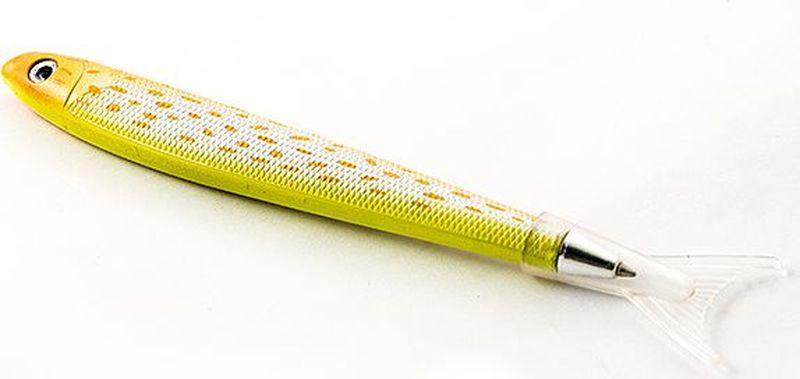 Эврика Ручка шариковая Рыбка цвет корпуса желтый96554Удивительная ручка, похожая на рыбацкую блесну, привлечет внимание как любителей рыбной ловли, так и любителей забавных письменных аксессуаров. Стержень сменный, цвет чернил – синий.