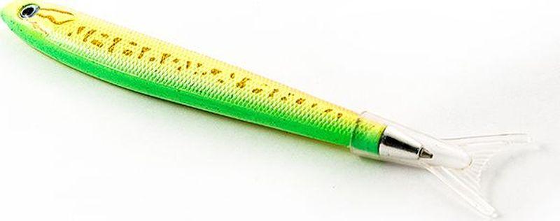 Эврика Ручка шариковая Рыбка цвет корпуса зеленый96557Удивительная ручка, похожая на рыбацкую блесну, привлечет внимание как любителей рыбной ловли, так и любителей забавных письменных аксессуаров. Стержень сменный, цвет чернил - синий.