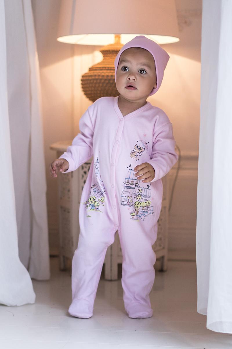 Комбинезон домашний для девочки Мамуляндия Мультяшки-Девочки, цвет: розовый. 17-602. Размер 6817-602Комбинезон домашний для девочки Мамуляндия Мультяшки-Девочки выполнен из натурального хлопка. Модель с длинными рукавами застегивается на кнопки по всей длине.