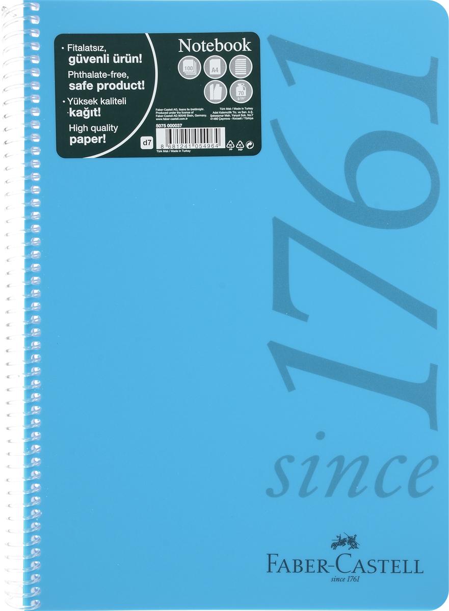 Faber-Castell Блокнот Since 1761 100 листов в линейку цвет голубой507037_голубойОригинальный блокнот Faber-Castell Since 1761 в твердой пластиковой обложке подойдет для памятных записей, любимых стихов и многого другого.Внутренний блок состоит из 100 листов в линейку. Блокнот скреплен спиралью. Такой блокнот станет вашим верным помощником,а также отличным подарком для в близких и друзей.