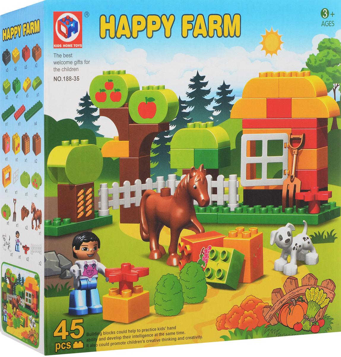 Concord Toys Конструктор Веселая ферма головоломки toys lab деревянный лабиринт веселая ферма