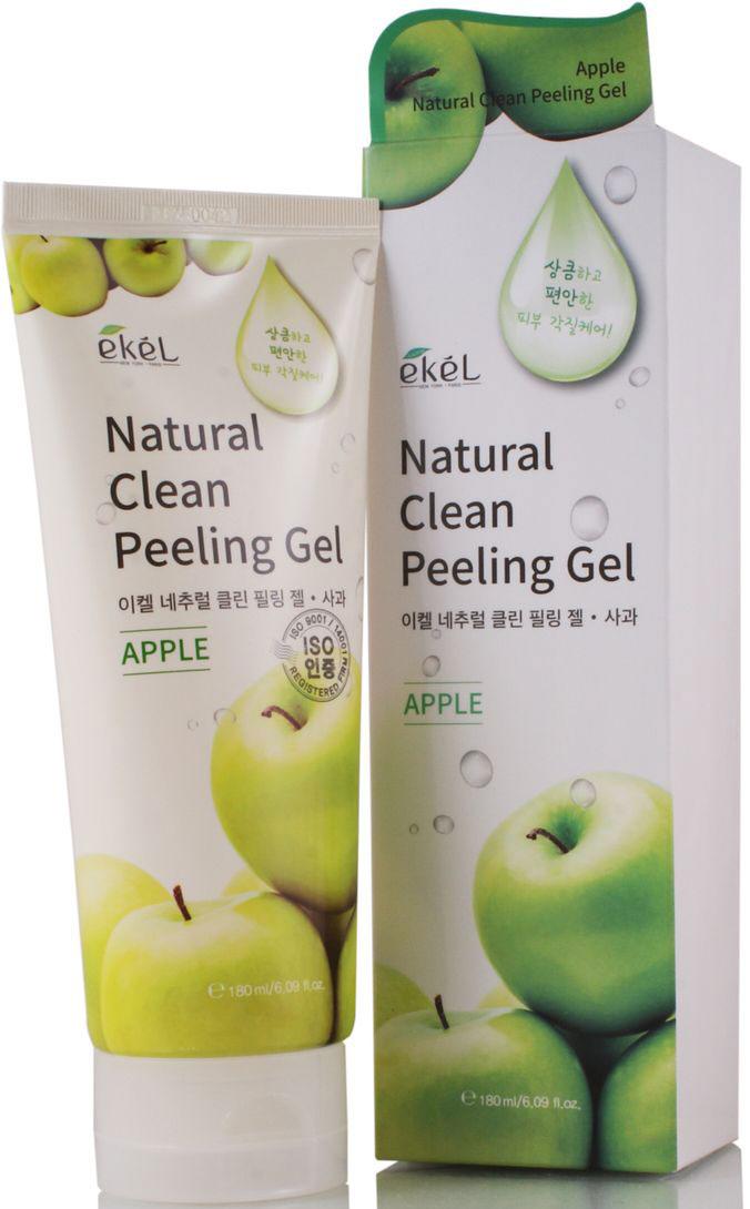 Ekel Пилинг-скатка с экстрактом зеленого яблока, 180 мл539751Деликатный пилинг-скатка для лица с экстрактом зеленого яблока эффективно отшелушивает омертвевшие клетки кожи лица и шеи. Глубоко очищает поры. Выравнивает поверхность кожи. Обладает питательными, увлажняющими и витаминизирующими, смягчающими, тонизирующими и освежающими свойствами. Экстракт яблока содержит пектиновые вещества, органические кислоты, витамины группы В, каротин, соли железа и фосфора, флавоноиды. Активные фруктовые кислоты, содержащиеся в зеленом яблоке, позволяют глубоко очистить поры для более эффективного поглощение питательных веществ из средств ежедневного ухода. Подходит для чувствительной кожи.