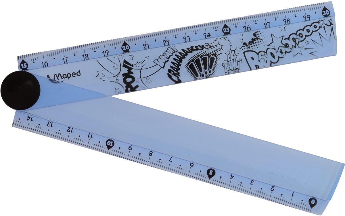 Maped Линейка Open Up складная цвет синий 15-30 см281010_синийЛинейка складная Maped Open Up - необходимый инструмент вашего рабочего стола..необычная линейка может иметь разную длину: в развернутом виде - 30 см, в сложенном виде - 15 см. Дизайн линейки выполнен в полупрозрачном синем цвете с рисунком в виде надписей.Возможности применения этого приспособления широки: оно пригодится как на занятиях в учебном заведении, так и при выполнении работы дома.