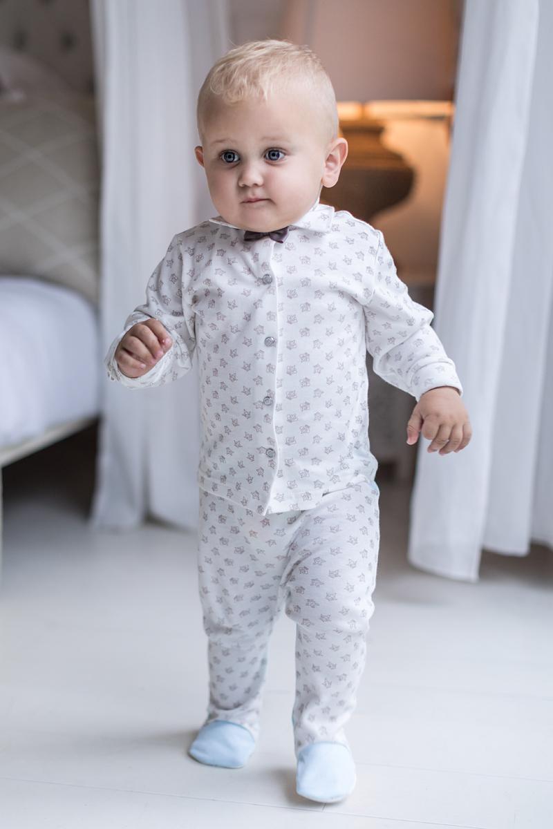 Кофточка для мальчика Мамуляндия Маленький принц, цвет: молочный. 17-304. Размер 92