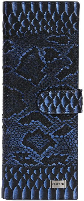 Визитница женская Fabretti. 81502-blue piton