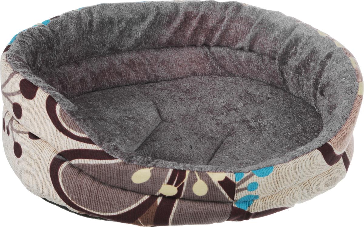Лежак для животных GLG Малютка, цвет: бежевый, коричневый, голубой, 37 х 30 х 11 смL005/A_бежевый, коричневый, голубойМягкий лежак GLG Малютка обязательно понравится вашему питомцу. Он выполнен из высококачественных материалов. Такие материалы не теряют своей формы долгое время.Лежак оснащен мягкой подстилкой. Высокие бортики обеспечат вашему любимцу уют. Мягкий лежак станет излюбленным местом вашего питомца, подарит ему спокойный икомфортный сон, а также убережет вашу мебель от шерсти.