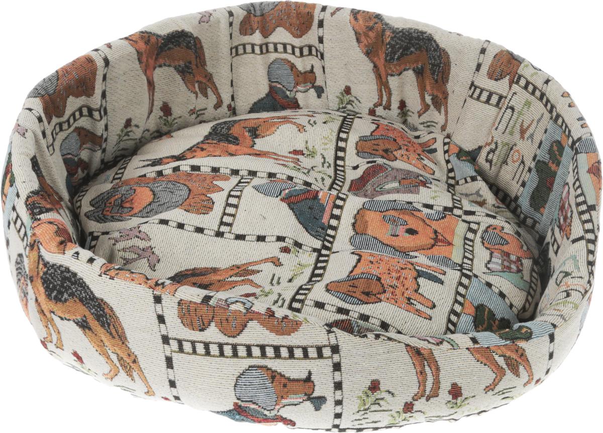 Лежак для собак GLG Ринго М, цвет: серый, коричневый, 60 х 60 х 15 смL006/D_собакиМягкий лежак GLG Нежность обязательно понравится вашему питомцу. Он выполнен из высококачественных материалов. Такие материалы не теряют своей формы долгое время.Лежак оснащен мягкой съемной подстилкой. Высокие бортики обеспечат вашему любимцу уют. Мягкий лежак станет излюбленным местом вашего питомца, подарит ему спокойный икомфортный сон, а также убережет вашу мебель от шерсти.