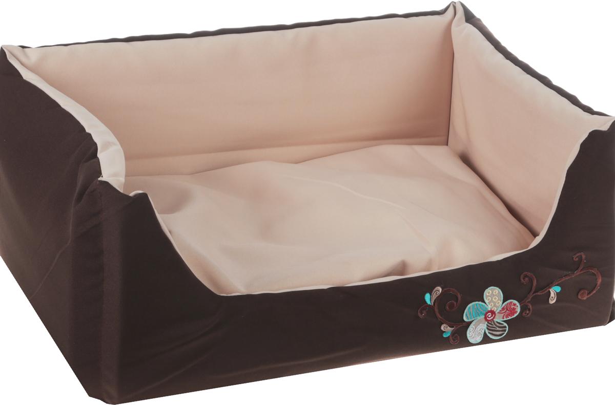 Лежак для животных GLG Емеля, цвет: темно-коричневый, бежевый, 60 х 40 х 20 смL008_темно-коричневый, бежевыйМягкий лежак GLG Емеля обязательно понравится вашему питомцу. Он выполнен из хлопка и полиэстера, а наполнитель - из мягкого поролона. Такой материал не теряет своей формы долгое время.Лежак оснащен мягкой съемной подстилкой. Высокие бортики обеспечат вашему любимцу уют. Мягкий лежак станет излюбленным местом вашего питомца, подарит ему спокойный икомфортный сон, а также убережет вашу мебель от шерсти.