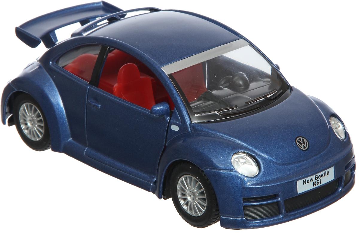 maisto радиоуправляемая модель volkswagen beetle цвет желтый Kinsmart Модель автомобиля Volkswagen New Beetle RSI цвет синий