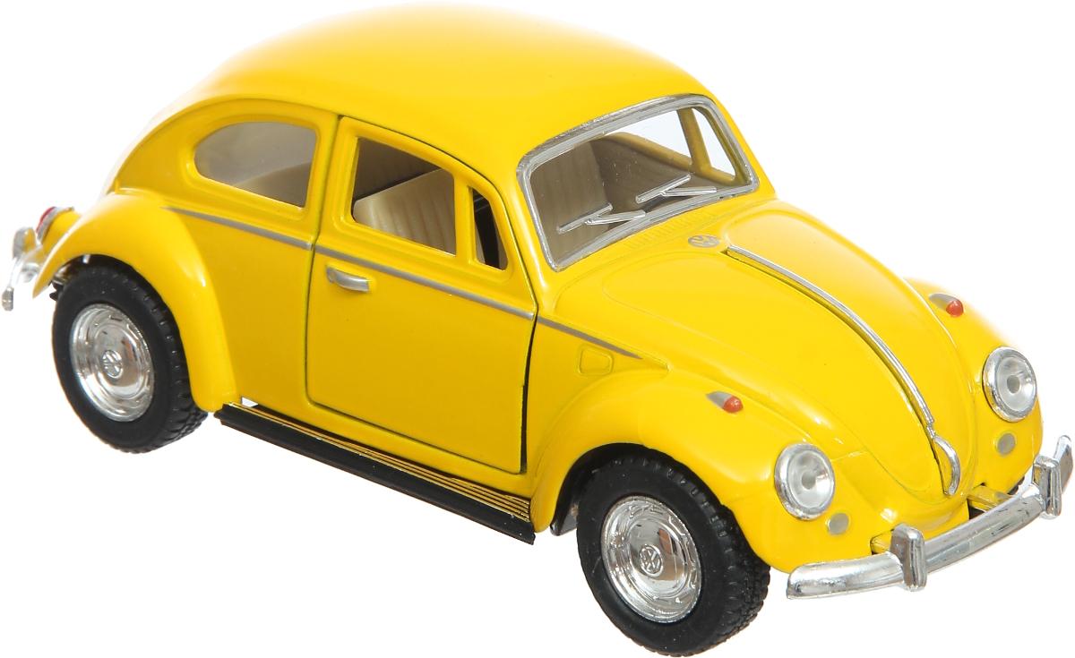 Kinsmart Модель автомобиля Volkswagen Classical цвет желтый uni fortune toys модель автобуса volkswagen t1 transporter цвет желтый синий