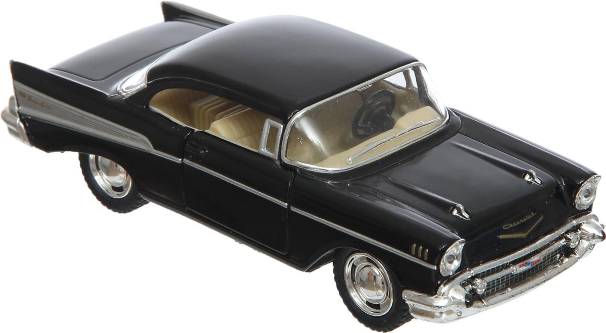 Kinsmart Модель автомобиля 1957 Chevrolet Bel Air цвет черный игрушка maisto 1957 chevrolet bel air 81302