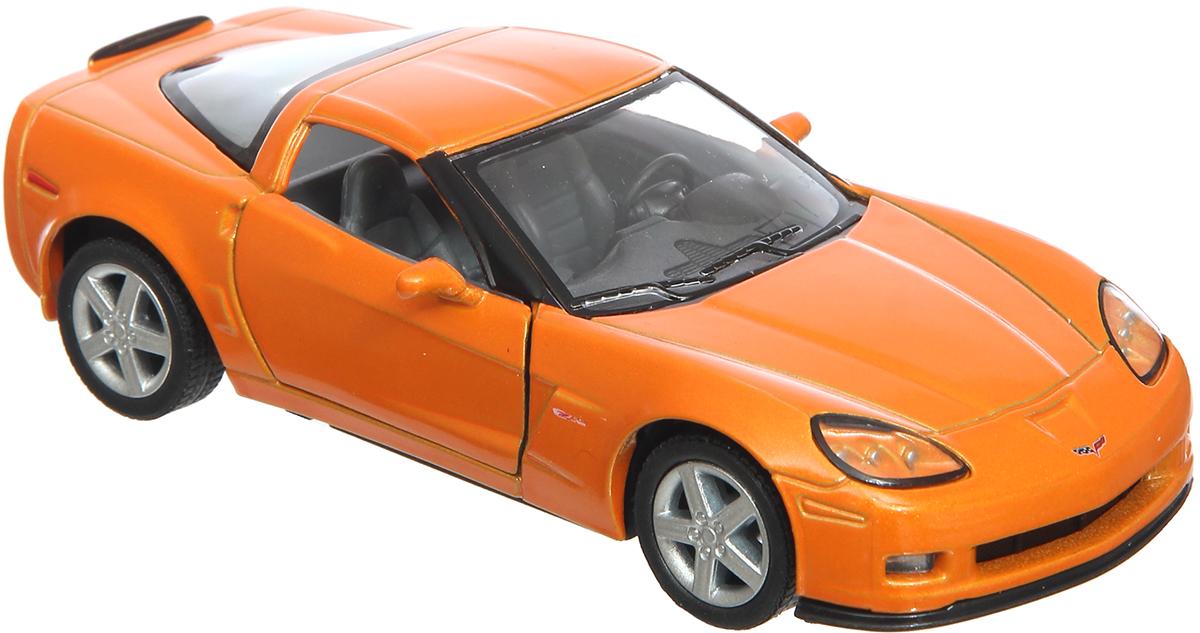 Kinsmart Модель автомобиля Chevrolet Corvette Z06 цвет оранжевый машинки jada модель автомобиля 1963 corvette stingray centennial 1 18
