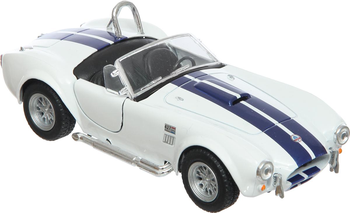 Kinsmart Модель автомобиля 1965 Shelby Cobra 427 S/C цвет белый