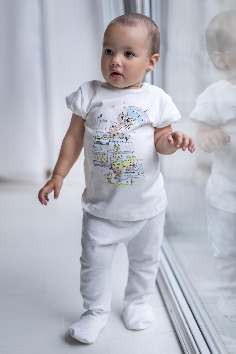 купить Ползунки для девочки Мамуляндия Мультяшки-Девочки, цвет: молочный. 17-605. Размер 80 по цене 253 рублей
