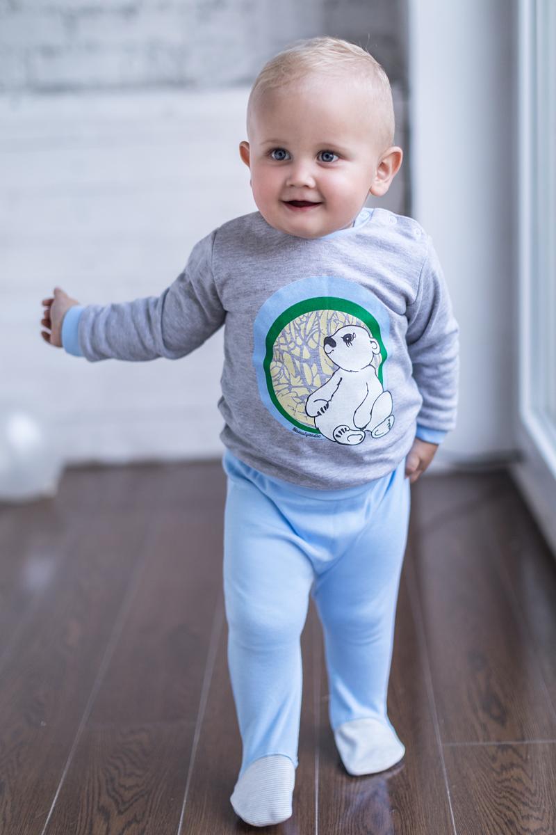 купить Ползунки для мальчика Мамуляндия Мультяшки-Мальчики, цвет: голубой. 17-705. Размер 68 по цене 253 рублей