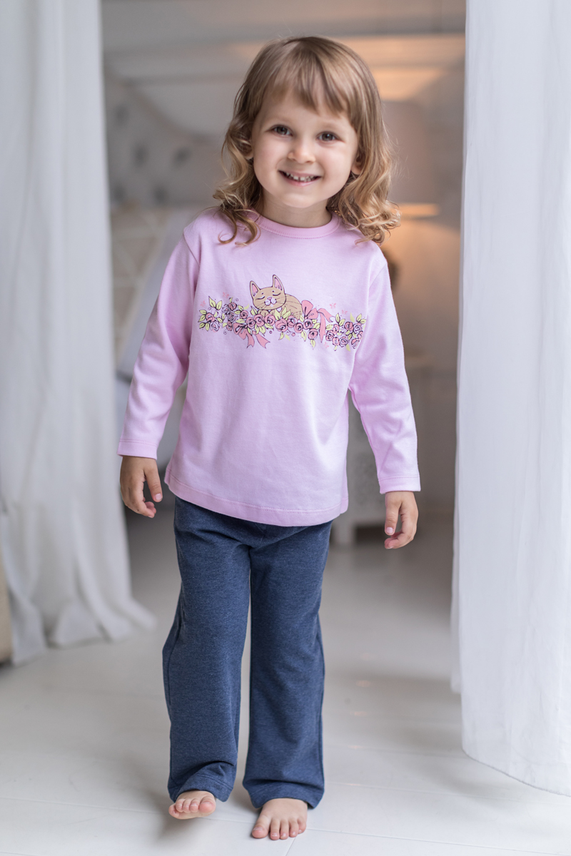 Футболка с длинным рукавом для девочки Мамуляндия Мультяшки-Девочки, цвет: розовый. 17-607. Размер 6217-607Футболка с длинным рукавом для девочки Мамуляндия Мультяшки-Девочки выполнена из натурального хлопка. Модель с круглым вырезом горловины оформлена оригинальным принтом.