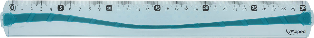 Maped Линейка цвет голубой 30 см244030_голубойЛинейка Maped используется как традиционный инструмент для черчения и рисования полей в школьных тетрадях.Изделие выполнено из небьющегося пластика (в случае использования по назначению). Градуировка нанесена УФ-чернилами, которые не сотрутся при длительном использовании.