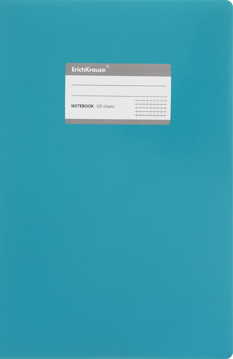 Erich Krause Тетрадь Fluor 120 листов в клетку цвет бирюзовый31486_бирюзовыйОбложка тетради Erich Krause Fluor выполнена из гибкого картона, что позволит сохранить ее в аккуратном состоянии на протяжении всего времени использования.На обложке имеется титульная этикетка для записи персональных данных. Внутренний блок тетради, соединенный с помощью клея, состоит из 120 листов белой бумаги. Стандартная линовка в клетку черного цвета без полей.