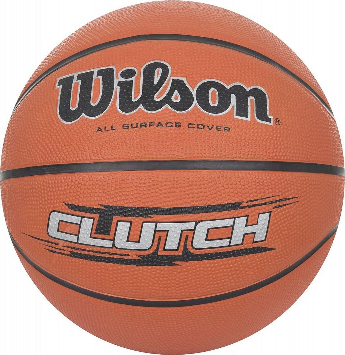 Мяч баскетбольный Wilson Clutch. Размер 7WTB1434XBБаскетбольный мяч Wilson Clutch отлично подходит для комфортных тренировок и игр команд любого уровня.Покрышка мяча выполнена из современного композитного материала ACL (Absorbent Composite Leather) на основе микрофибры. Этот материал обладает высокой способностью впитывать влагу и пот.Мяч обладает большой цепкостью, он не выскальзывает из рук во время броска или дриблинга. Баскетбольный мяч рекомендован для тренировок и соревнований команд высокого уровня.Размер №7: для мужчин и юношей от 17 лет, официальный размер для соревнований.УВАЖАЕМЫЕ КЛИЕНТЫ!Обращаем ваше внимание на тот факт, что мяч поставляется в сдутом виде. Насос в комплект не входит.