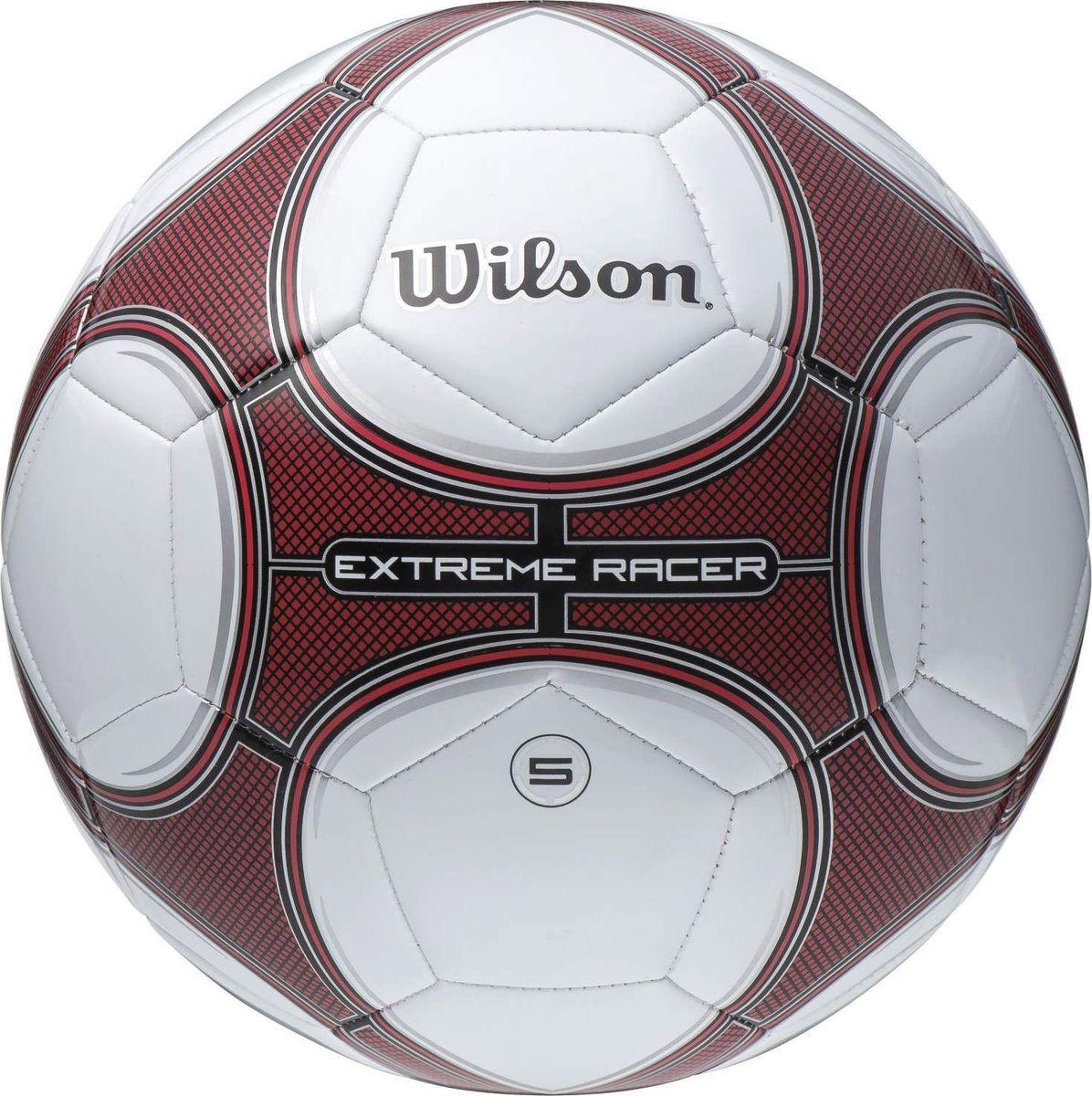 Мяч футбольный Wilson Extreme Racer, цвет: красный, белый. Размер 5WTE8719XB05Футбольный мяч Wilson Extreme Racer выполнен из композитных материалов. Мяч имеет 32 панели, сшитые вручную. Устойчив к трению и износу, подходит для игры на любых поверхностях в любых погодных условиях. Футбольный мяч Wilson Extreme Racer может выдерживать не только грунтовые поверхности, но и асфальт, он стойкий к сильным ударам, комфортный и оригинальный благодаря своему дизайну.Длина окружности: 68 см. УВАЖАЕМЫЕ КЛИЕНТЫ!Просим обратить ваше внимание на тот факт, что мяч поставляется в сдутом состоянии и надувается при помощи насоса (насос не входит в комплект).