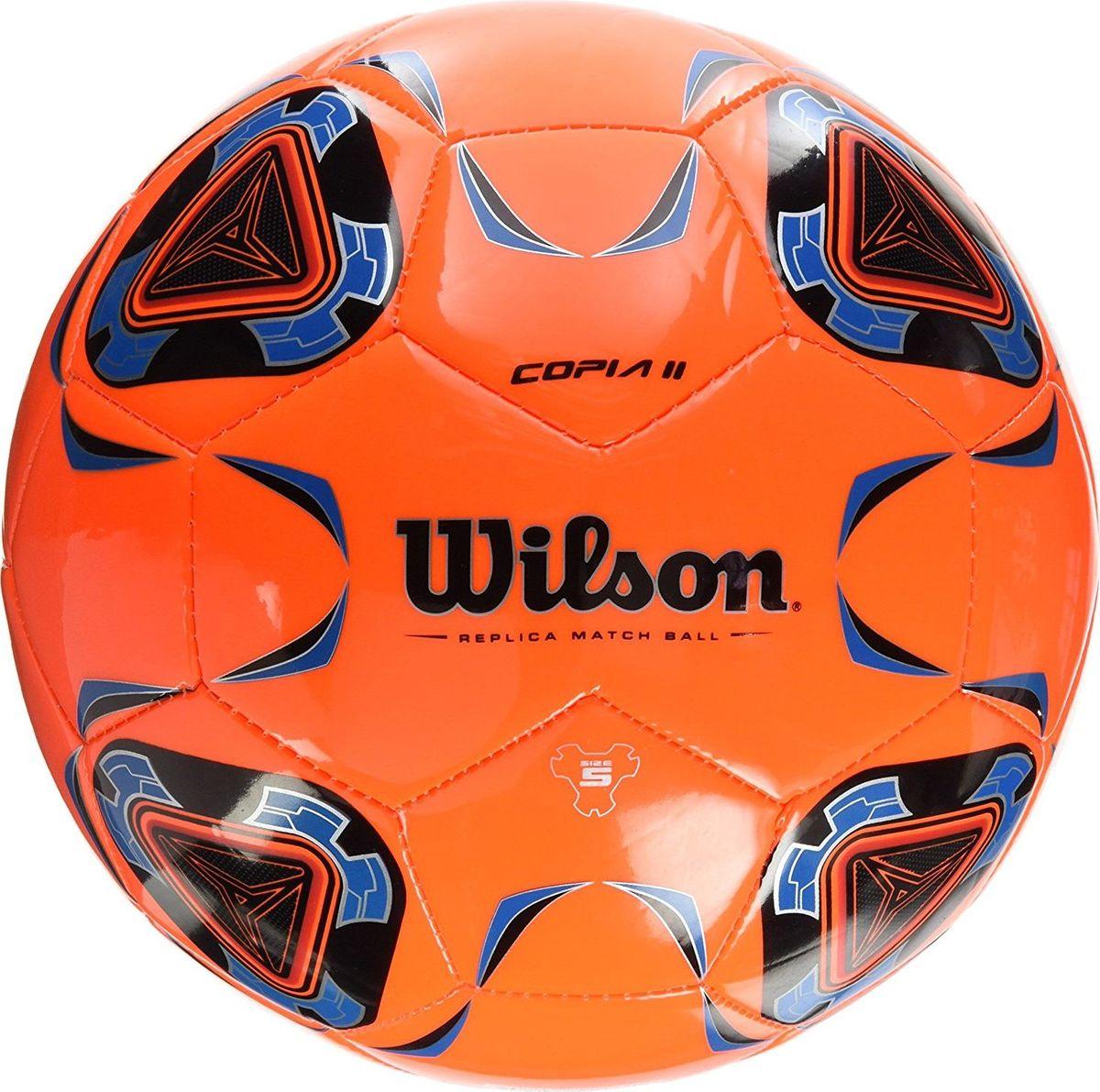 Мяч футбольный Wilson Copia II, цвет: оранжевый. Размер 5WTE9282XB05Футбольный мяч Wilson Copia II выполнен из композитных материалов. Мяч имеет 32 панели, сшитые вручную. Устойчив к трению и износу, подходит для игры на любых поверхностях в любых погодных условиях. Футбольный мяч Wilson Copia II может выдерживать не только грунтовые поверхности, но и асфальт, он стойкий к сильным ударам, комфортный и оригинальный благодаря своему дизайну.Длина окружности: 68 см. УВАЖАЕМЫЕ КЛИЕНТЫ!Просим обратить ваше внимание на тот факт, что мяч поставляется в сдутом состоянии и надувается при помощи насоса (насос не входит в комплект).