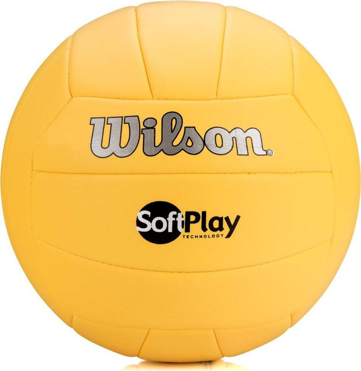 Мяч волейбольный Wilson Soft Play, цвет: желтый, диаметр 20 смWTH3501XYELВолейбольный мяч Wilson Soft Play предназначен для комфортных тренировок и игр команд любого уровня. Покрышка мяча выполнена из высокотехнологичного композитного материала на основе микрофибры, с применением технологии Soft Touch, которая напоминает натуральную кожу и обеспечивает правильный отскок.Мяч состоит из 18 панелей и бутиловой камеры, также армирован подкладочным слоем, выполненным из ткани.Мяч отлично подойдет для тренировок и соревнований команд высокого уровня.УВАЖАЕМЫЕ КЛИЕНТЫ!Обращаем ваше внимание на тот факт, что мяч поставляется в сдутом виде. Насос в комплект не входит.