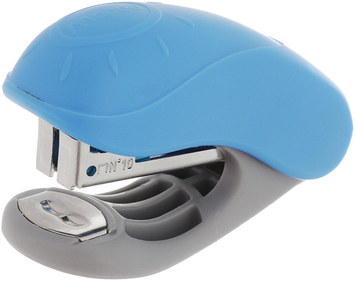 Maped Степлер №10 цвет голубой540300_голубойСтеплер Maped - незаменимый офисный инструмент.Изделие выполнено из пластика с металлическим механизмом. Степлер рассчитан на скрепление 15 листов скобами №10.Степлер со встроенным антистеплером гарантирует стабильную и качественную работу в течение долгого времени.
