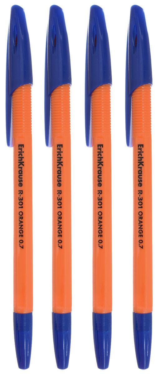 Erich Krause Ручка шариковая R-301 цвет чернил синий 4 штEK22189Удобная шариковая ручка с пластиковым корпусом. Исключительная мягкость письма достигается благодаря уникальному составу чернил.Уважаемые клиенты!Обращаем ваше внимание на возможные изменения в дизайне упаковки. Качественные характеристики товара остаются неизменными. Поставка осуществляется в зависимости от наличия на складе.