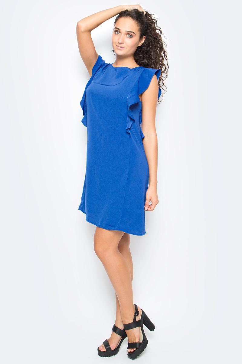 Платье Top Secret, цвет: синий. SSU1909NI. Размер 42 (50) футболка с коротким рукавом quelle top secret 1022411