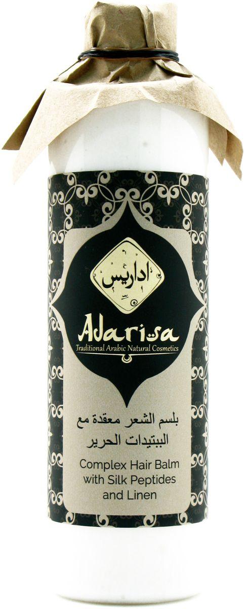 Adarisa Комплексный бальзам для всех типов волос с пептидами шелка и льном, 250 мл