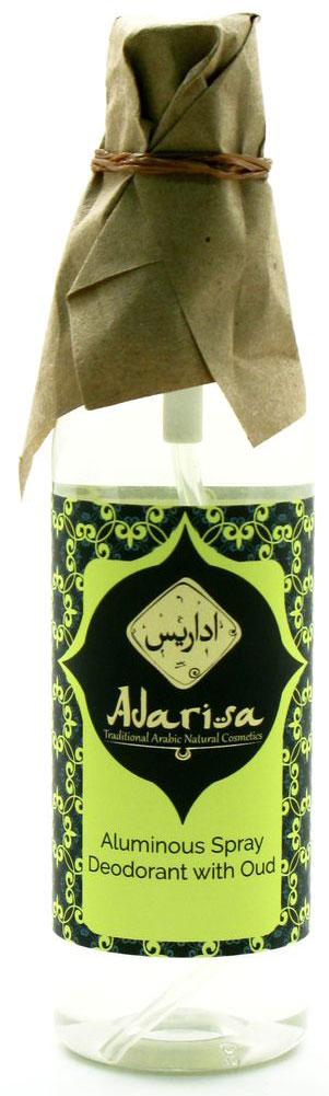 Adarisa Квасцовый дезодорант-спрей с удом, 100 млADAR0142Натуральный квасцовый дезодорант с ароматом уда идеально подойдет мужчинам. Уникальные свойства природных квасцов позволяют ему делать защиту от пота максимально стойкой и продолжительной, а благодаря абсолюту агарового дерева Вы ощущаете тонкий, чистый, благородный и изысканный древесный аромат, а не характерный неприятный запах. Квасцовый дезодорант – уникальное средство со 100% натуральным составом. Отсутствие спиртовых составляющих, хлоргидрата алюминия, эмульгаторов и синтетических парфюмерных отдушек позволяет защищать кожу не только от избыточного потоотделения, но и от раздражений и пересушивания. Благодаря мощному антибактериальному действию природных квасцов, компонентов горно-вулканического происхождения, дезодорант не просто ликвидирует дискомфортные ощущения влажности и липкости на коже подмышечных впадин, но и уничтожает вредоносные бактерии – первопричину нежелательного запаха.В отличие от привычного антиперспиранта, квасцовый дезодорант-спрей не засоряет поры кожи и не влияет негативным образом на работу потовых желез. Закрепляясь на коже в виде тончайшей невидимой оболочки, он обеспечивает непревзойденную чистоту и свежесть в течение всего дня и позволяет напрочь забыть о беспокойстве по поводу производимого на окружающих впечатления.Форма спрея-распылителя делает использование дезодоранта быстрым и удобным. Натуральный дезодорант не образует следов и разводов на Вашей одежде. Он универсален в применении: используйте для успокоения раздраженной кожи после бритья.