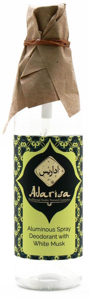 Adarisa Квасцовый дезодорант-спрей с белым мускусом, 100 млADAR0141Натуральный квасцовый дезодорант с белым мускусом создан специально для тех, кто не приемлет тяжелых отдушек в средствах гигиены и предпочитает легкие и прозрачные, чистые ароматы.Звучание белого мускуса покоряет своей утонченностью и хрупкостью – это аромат начала дня, первых солнечных лучей, свежих мыслей и новых идей. Он мягкий и ровный, спокойный и уверенный – ровно такой, какой нужен для идеального утра.Природные квасцы, составляющие основу натурального дезодоранта, обладают превосходными антибактериальными, дезинфицирующими и освежающими свойствами. Они устраняют липкость и влажность без пересушивания кожи, не нарушают функционирования потовых желез, не вызывают аллергических реакций, а также нормализуют микрофлору кожи, уничтожая вредоносные бактерии – основную причину образования характерного запаха пота. Благодаря мягкому воздействию квасцов, натуральный дезодорант приятно освежает, а также успокаивает кожу, снимая покраснения и ускоряя заживление микровоспалений, возникших после бритья или эпиляции. Таким образом он не просто надежно защищает от пота, но и ежедневно ухаживает за кожей.Квасцовый дезодорант полностью безопасен для кожи: в нем не содержится спирт, хлоргидрат алюминия, эмульгаторы и другие вредные химические компоненты. Удобный флакончик с распылителем делает нанесение дезодоранта максимально быстрым и легким. Натуральный дезодорант-спрей не оставляет пятен на белье и одежде. Он подарит Вам ежедневный комфорт и полноценную уверенность в производимом впечатлении.