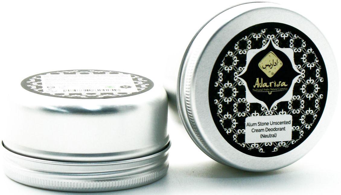 Adarisa Алунитовый крем-дезодорант (нейтральный), без запаха, 50 грADAR0137Натуральный алунитовый дезодорант имеет нежную кремовую консистенцию, благодаря которой он обеспечивает самый мягкий уход за чувствительной кожей, в том числе, у подростков. Он абсолютно гипоаллергенен, а его природный состав исключает использование каких-либо отдушек и химических составляющих, поэтому его могут использовать даже беременные и кормящие женщины. Дезодорант имеет 100% натуральную основу – солевой минерал горно-вулканического происхождения, богатый алюмокалиевыми квасцами. Именно его уникальными свойствами обусловлено действие дезодоранта. Алунит не просто защищает от повышенного потоотделения, но и ведет эффективную борьбу с самой причиной образования неприятного запаха, уничтожая вредоносные бактерии. Он нормализует микрофлору кожи подмышечных впадин, и она остается чистой и свежей в течение более продолжительного времени. Антибактериальные, дезинфицирующие и заживляющие свойства алунита позволяют натуральному дезодоранту одновременно обеспечивать надежную защиту от запаха пота и максимальную заботу о коже. Его очевидное преимущество перед промышленными антиперспирантами – полная безопасность для кожи: алунитовый крем-дезодорант не содержит тальк и спирт, не сушит кожу и не нарушает естественное дыхание ее клеток. Кроме того, он снимает раздражения и заживляет микроранки и порезы после бритья. Простой и удобный в применении, алунитовый крем-дезодорант легко наносится, не оставляет разводов и полос на одежде и помогает чувствовать себя уверенно 24 часа в сутки.