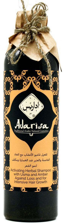 Adarisa Активизирующий шампунь с усьмой и амброй для роста волос, 250 мл
