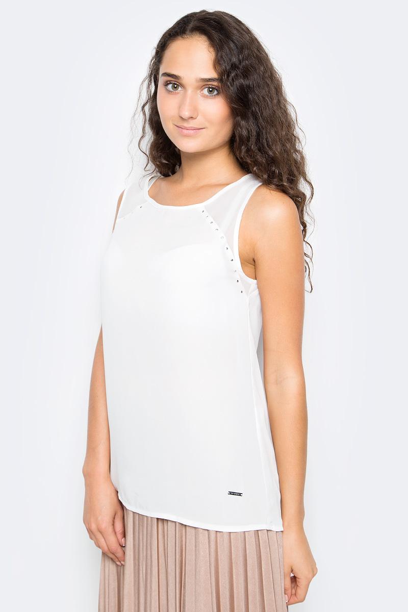 Блузка женская Top Secret, цвет: белый. SBW0353BI. Размер 42 (50) блузка quelle top secret 1033699