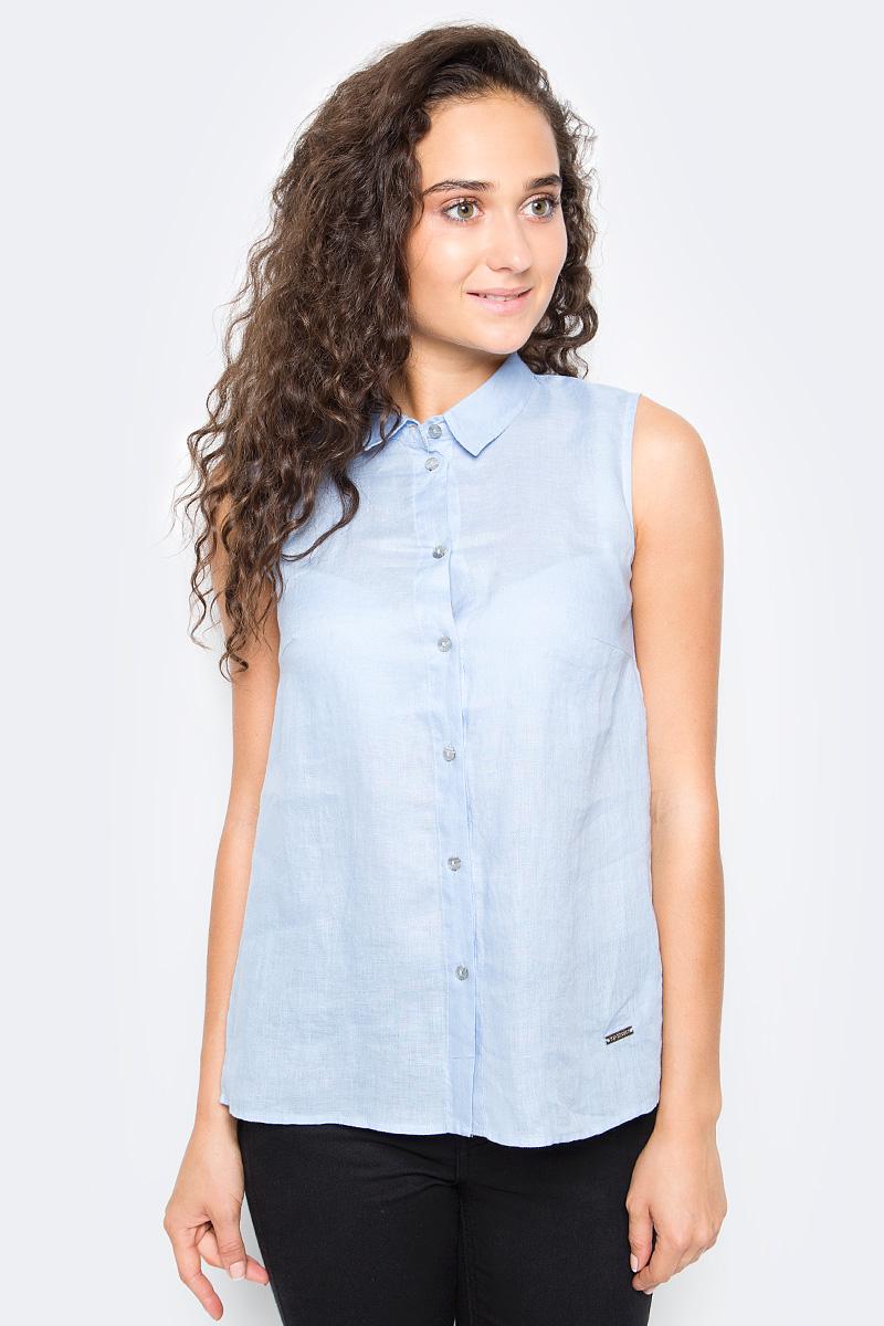 Рубашка женская Top Secret, цвет: голубой. SKE0036BL. Размер 38 (46) ночная рубашка женская vienetta s secret васильки цвет зеленый 160379 9200 размер xxl 52