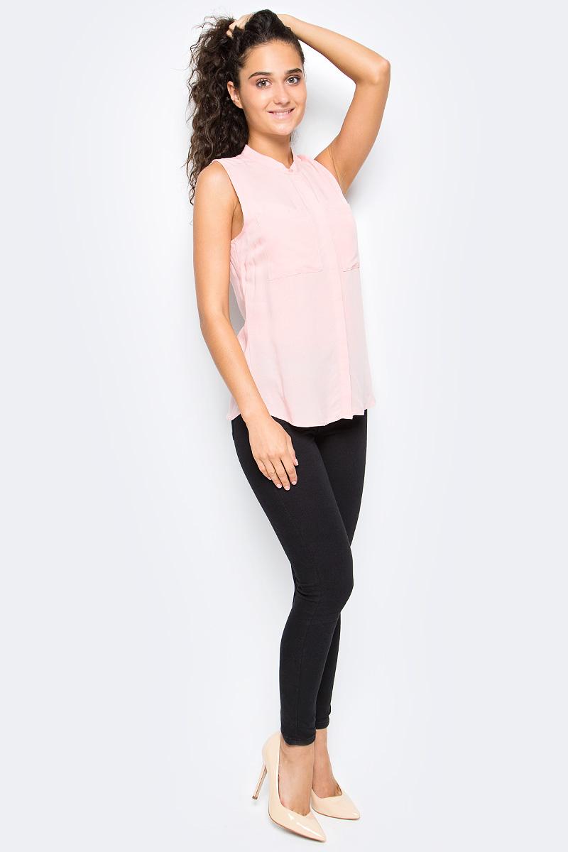 Рубашка женская Top Secret, цвет: розовый. SKE0039RO. Размер 42 (50)SKE0039ROЖенская рубашка Top Secret выполнена из натуральной вискозы. Модель без рукавов и небольшим воротничком-стойкой застегивается на пуговицы, скрытые под планкой, на груди дополнена накладными карманами.