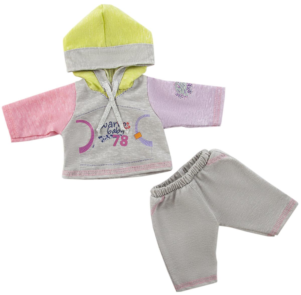 Mary Poppins Одежда для кукол Спортивный костюм цвет серый куклы и одежда для кукол bayer малышка первый поцелуй 42 см