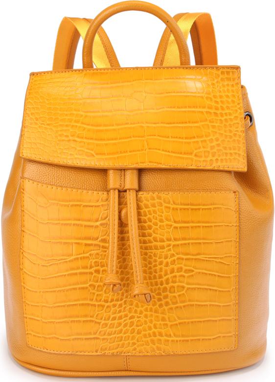 Рюкзак женский OrsOro, цвет: желтый. D-436/3D-436/3Женский рюкзак OrsOro с клапаном на кнопке выполнен из искусственной кожи высокого качества.Рюкзак имеет одно вместительное отделение на молнии. В отделении присутствуют внутренний карман на молнии, внутренний карман накладнойкарман на молнии, внутренний карман для телефона с окантовкой. Снаружи имеется внешний передний карман на кнопке, внешний карман на молнии на задней стенке. Рюкзак обладает удобной ручкой и двумя регулируемыми плечевыми лямками.