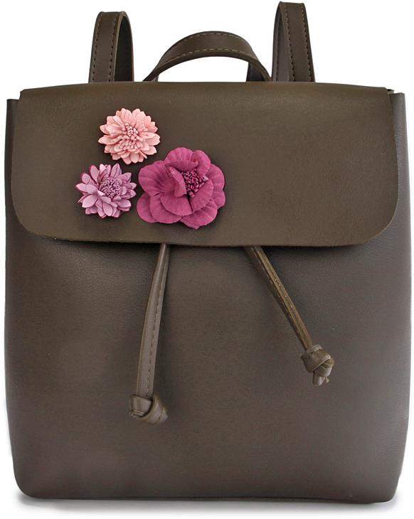 Сумка-рюкзак женская OrsOro, цвет: зеленый. D-435/2
