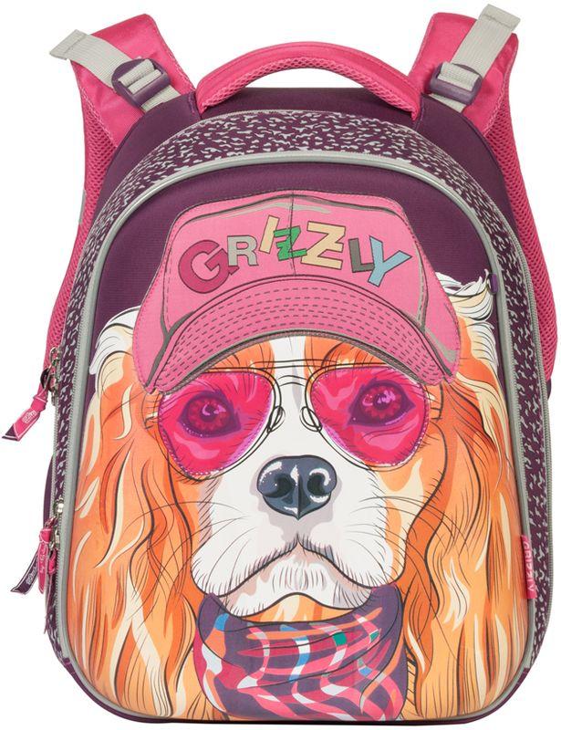 Grizzly Рюкзак цвет лиловый RA-670-3/1 grizzly рюкзак школьный цвет серый ra 780 1