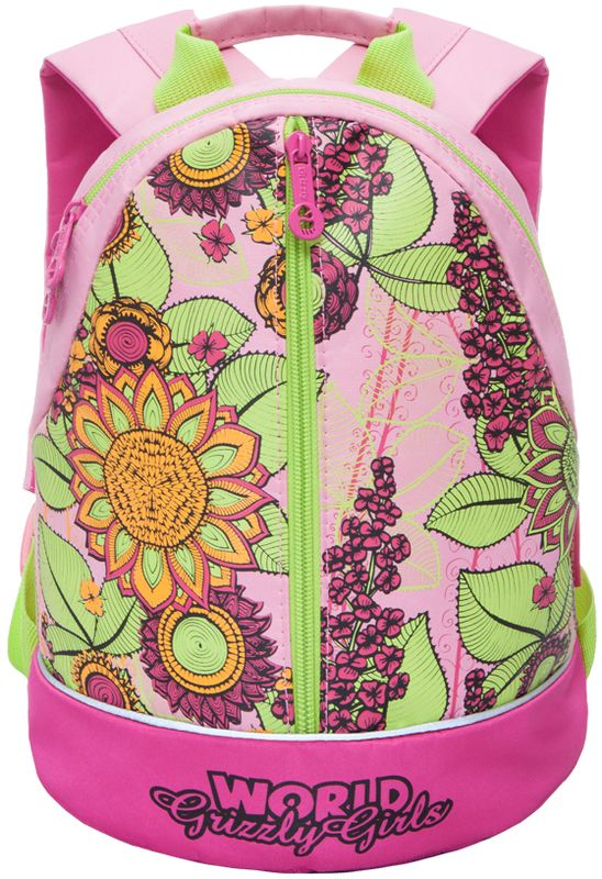 Grizzly Рюкзак дошкольный цвет розовый RS-665-3/2RS-665-3/2Рюкзак малый Grizzly содержит одно вместительное отделение, закрывающееся на застежку-молнию с двумя бегунками. На лицевой стороне расположен вертикальный карман на молнии. Ручка-петля предназначена для удобной переноски в руке или подвешивания на крючок. У рюкзака укрепленная спинка и мягкие регулируемые лямки. Светоотражающие элементы не оставят незамеченным вашего ребенка в темное время суток.Дошкольный рюкзак Grizzly порадует глаз и подарит отличное настроение вашему ребенку, который будет с удовольствием носить в нем свои вещи или любимые игрушки.
