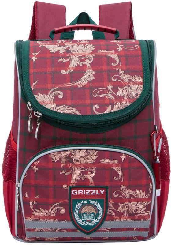 Grizzly Ранец школьный цвет красный RA-773-1/1RA-773-1/1Ранец Grizzly предназначен для девочек и выполнен из прочного материала.Содержит одно вместительное отделение, закрывающееся клапаном на застежку-молнию с двумя бегунками. Клапан полностью откидывается, что существенно облегчает пользование ранцем.На внутренней части клапана находится прозрачный пластиковый кармашек, в который можно поместить расписание занятий или личные данные ученика. На лицевой стороне расположен карман на молнии, в который можно поместить пенал. По бокам ранца имеются открытые сетчатые кармашки.Анатомическая спинка способствует равномерному распределению нагрузки и формированию правильной осанки, а воздухообменная сетка обеспечивает максимальный комфорт при эксплуатации.Укрепленные лямки позволяют легко и быстро отрегулировать изделие в соответствии с ростом. Поясное крепление предусмотрено для правильной фиксации изделия.Ранец оснащен ручкой для удобной переноски в руке и петлей для подвешивания на крючок. Дно рюкзака можно сделать жестким, разложив специальную панель, что повышает сохранность содержимого рюкзака и способствует правильному распределению нагрузки. Светоотражающие элементы придают дополнительную безопасность в темное время суток.
