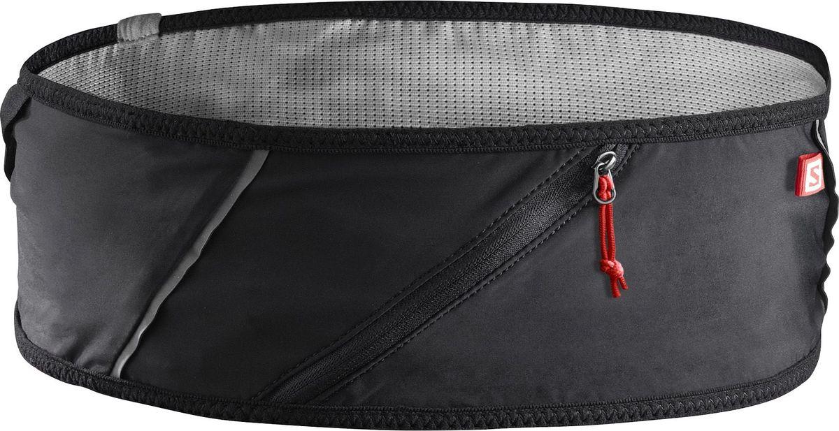 Сумка на пояс Salomon Pulse Belt, цвет: черный. Размер SL39779000Мягкая минималистичная сумка-пояс Salomon Pulse Belt понравится бегунам, любителям лыжных гонок и простым путешественникам. Она удобно сохранит личные вещи и фляжки, не мешая вам сосредоточиться на гонке, тренировке или других видах спорта.