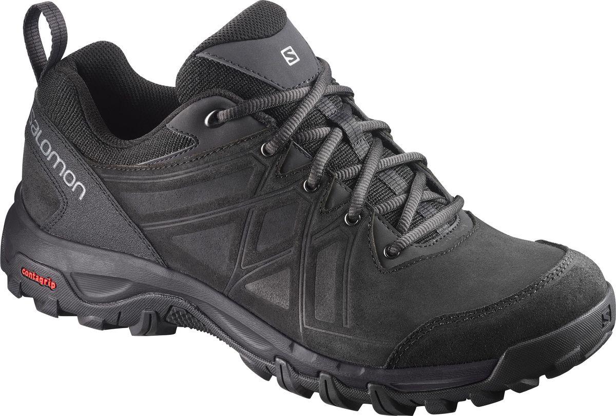 Кроссовки мужские Salomon Evasion 2 LTR, цвет: черный. L39856600. Размер 11,5 (45)L39856600Кроссовки Evasion 2 LTR сочетают в себе преимущества классической кожаной конструкции и последних технологий. Прочные, легкие и гибкие кроссовки удобно сидят с первой минуты. Надежная отзывчивая обувь подарит вам уверенность на тропе.