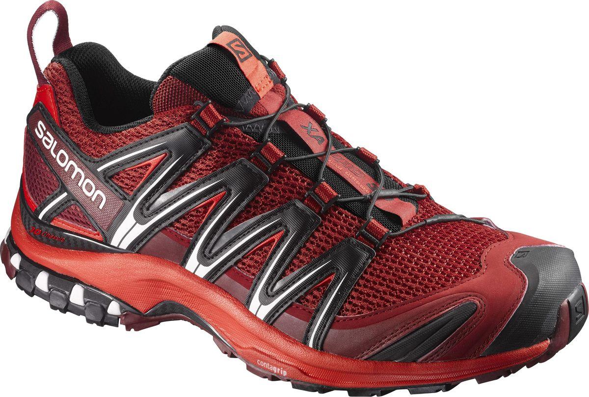 Кроссовки мужские Salomon XA PRO 3D, цвет: красный. L39850400. Размер 9,5 (42,5)L39850400Кроссовки XA PRO 3D — легендарная обувь, воплотившая в себе технологии для приключений в любых условиях. Устойчивый и долгий бег.