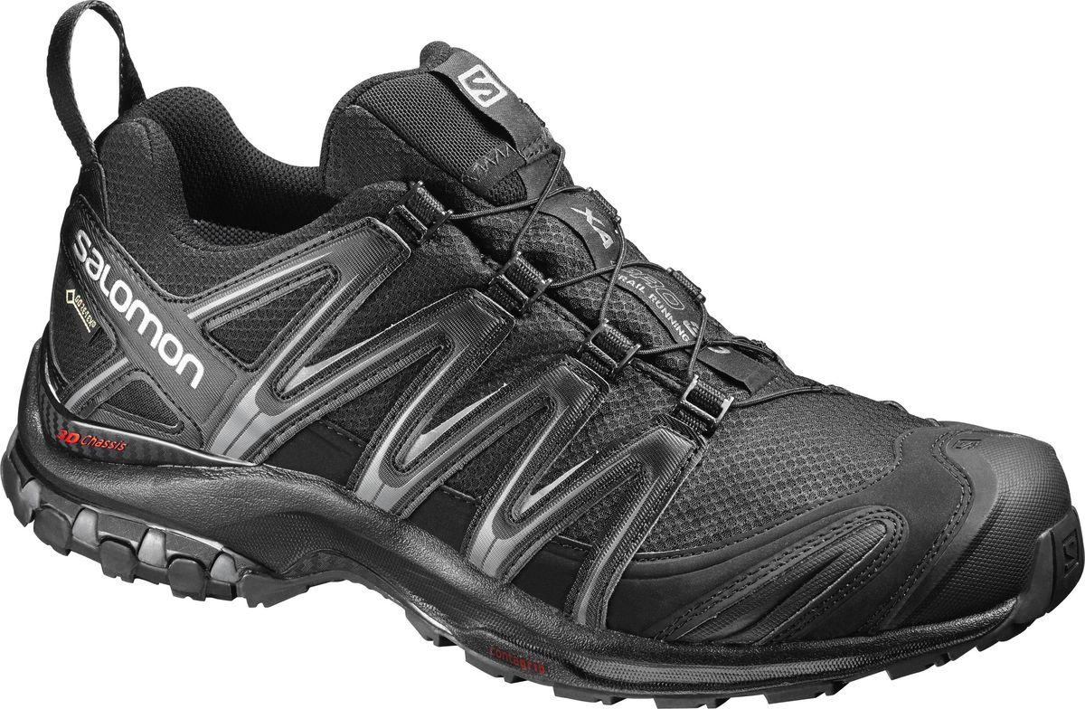 Кроссовки мужские Salomon XA PRO 3D GTX, цвет: черный. L39332200. Размер 11 (44,5)L39332200Не бывает плохой погоды, когда подобрано правильное снаряжение. Выходи на свежий воздух и начинай свою игру. Кроссовки XA PRO 3D GTX — легендарная обувь для приключений, которая не подведет на любой поверхности и в любых условиях.