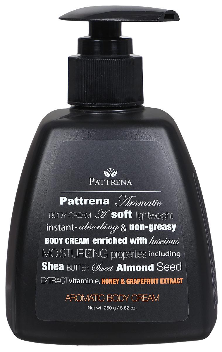 Pattrena Ароматный крем для тела Мед и Грейпфрут, 250 г64547Крем для тела Мед и Грейпфрут обеспечивает коже мягкость, шелковистость. Содержит антиоксидантные свойства. Не оставляет ощущения липкости. Крем для тела Мед питает кожу, защищает и предотвращает от сухости. Крем обладает утонченным теплым ароматом сочетания Меда и Грейпфрута, придает ощущение свежести и расслабленности.
