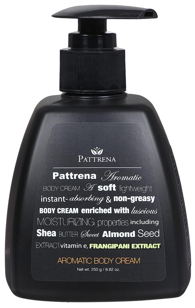Pattrena Ароматный крем для тела Франжипани, 250 г60839Увлажняющий, мягкий, легкий, нежирный крем для тела. Обогащен натуральными увлажняющими ингредиентами - масло Ши, масло семян сладкого миндаля, витамина Е, экстракт Плюмерии.Крем обладает королевским ароматом Плюмерии. Увлажняет кожу, придает ощущение свежести и экзотики.